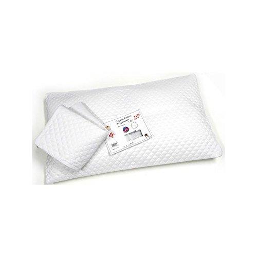 Ducomi® Paar kussenslopen anti-stofmijt met ritssluiting - Set van 2 antibacteriële hypoallergene gewatteerde hypoallergene kussensloop met ritssluiting 50 x 80 cm