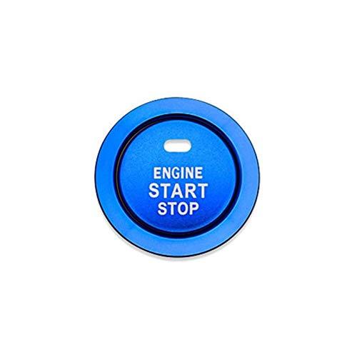 Aluminiumlegierung Auto Motor Startknopf Zündungsdeckel Dekoration Trim Aufkleber Für Toyota Corolla Rav4 Yaris C-HR C HR CHR 86 GT86 FT86 Scion FR-S Camry Cruiser HighLand (Style B, Blue)
