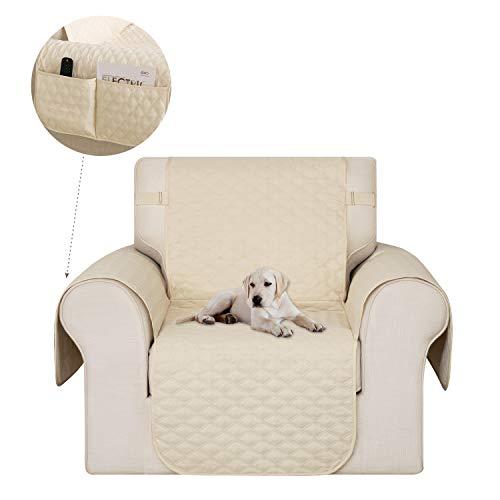 Deconovo Sofabezug Sofaüberwurf Sofahusse Wohnzimmer Sofaschoner 54x190 cm Beige 1-Sitzer