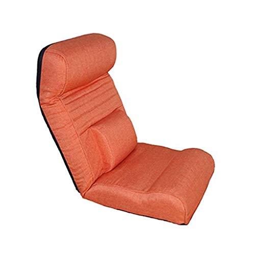 La meditación Presidente, Multifuncional Silla Suelo Lazy Couch única Silla Plegable sillón Cama de Estilo japonés Silla del Ocio Lavable (Color : Orange)