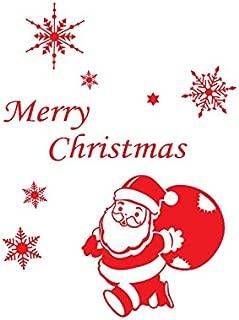 ALB Wall Window Stickers Santa Claus Snowflake Christmas Xmas Vinyl Decals