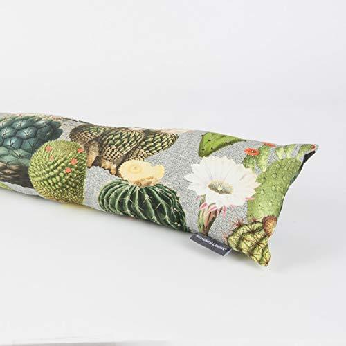 SCHÖNER LEBEN. Zugluftstopper Kaktus Kakteen grau grün Verschiedene Größen, Auswahl:120cm Länge