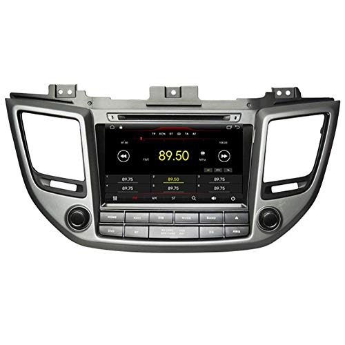 FWZJ Autosion Android 10 Car DVD Player GPS Stereo Head Unit Navi Radio Multimedia WiFi para Hyundai Tucson ix35 2015 2016 2017 Soporte Control del Volante