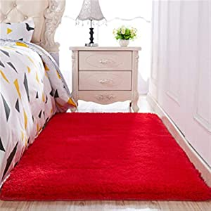 General-purpose carpets in various styles, Thickened washed silk hair non-slip carpet living room coffee table blanket Bedroom bedside mat yoga rugs solid color skin-friendly and soft Suitable for bab