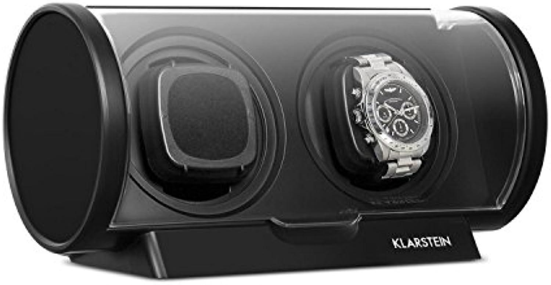 Klarstein Lugano  Uhrenbeweger  Uhrendreher  Uhrenkasten  Kapazitt  2 Uhren  4 vorprogrammierte Bewegungs-Modi  Laufleise  sparsam  schwarz