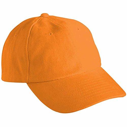 MYRTLE BEACH - Casquette visière Unie 6 Panneaux Coton - MB6111 - Orange - Mixte Adulte