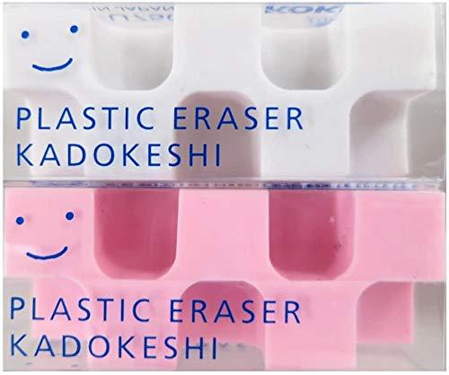 コクヨ 消しゴム カドケシプチ 鉛筆用 ピンク・ホワイト ケシ-U750-2 【× 4 パック 】