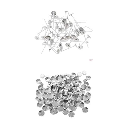 MagiDeal Contenedores de Taza de Vela Vacíos de Aluminio con Luz de Té de 400 Piezas Y Mecha de Vela de 35 Mm
