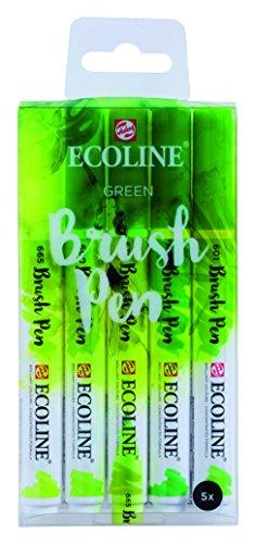 "Talens Ecoline 5 brush pens ""Green"""