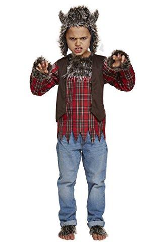 Niños Halloween Hombre Lobo Disfraz 10-12 años (Grande)