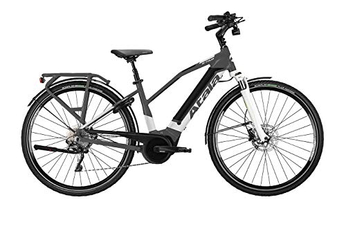 Atala - Bicicleta eléctrica B-Tour SLS Lady de 10 velocidades, talla M (160-175 cm), color antracita/blanco/negro, kit eléctrico Bosch Performance Cruise 500 wh