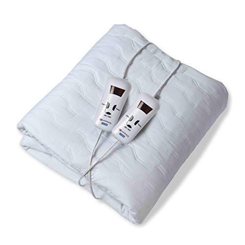 Pekatherm U210DF - Calientacamas Doble de Algodón, 150 x 160 cm   Calientacamas Eléctrico   Calienta camas