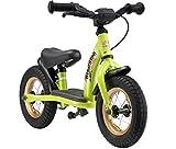bikestar bicicletta senza pedali 2 - 3 anni per bambino et bambina | bici senza pedali bambini con freno 10 pollici classico | verde