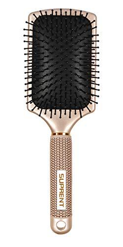 Antistatisch paddle bürste SUPRENT professionelle Haarbürste Kopfhautmassage Luftkissenkamm Entwirrung für Glätten und glänzend für alle Haarlängen
