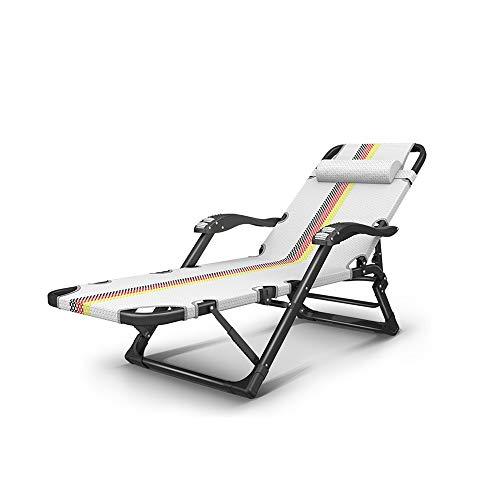 ZXQZ Liegestuhl Campingstuhl Klappstuhl - Summer Recliner Folding Mittagspause Sommer Cool Nap Bed Adult Schlafsaal Einfache Single Chair Portable Home Front und Rear Multi-Range-Einstellung Klappbar