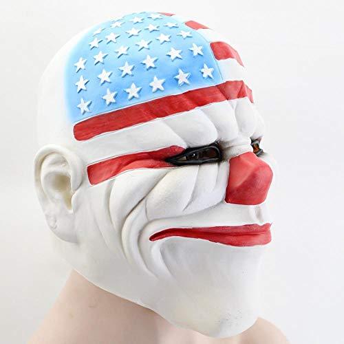 HDDZKP Masken Für Erwachsene,Halloween Clown Maske Teufel Karneval Für Erwachsene Anime Gesicht Cosplay Bar Leistungen Dekorationen Spezielle Holiday Party Supplies
