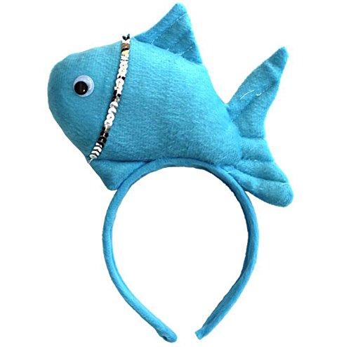 2 Pièce Creative Performance Props Lovely Blue Fish Headband