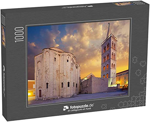 Puzzle 1000 Teile St. Donatus Kirche auf dem Roma-Forum in Zadar. Kroatien - Klassische Puzzle, 1000/200/2000 Teile, in edler Motiv-Schachtel, Fotopuzzle-Kollektion 'Kroatien'