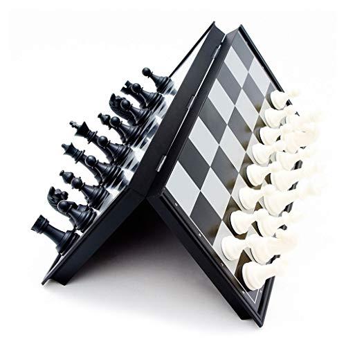 kiter Ajedrez Tablero de ajedrez de plástico Tablero Plegable Juego de ajedrez Juego de ajedrez Internacional Juguetes Acción de Gracias Juego de Ajedrez