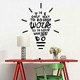 SLQUIET Aimez-vous faire des citations inspirantes stickers muraux creative ampoule...