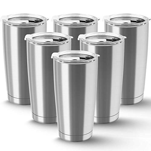 XccMe 20 oz Stainless Steel Tumbler Double Wall Vacuum with Lid Tumblers Travel Mug Coffee Cup for...