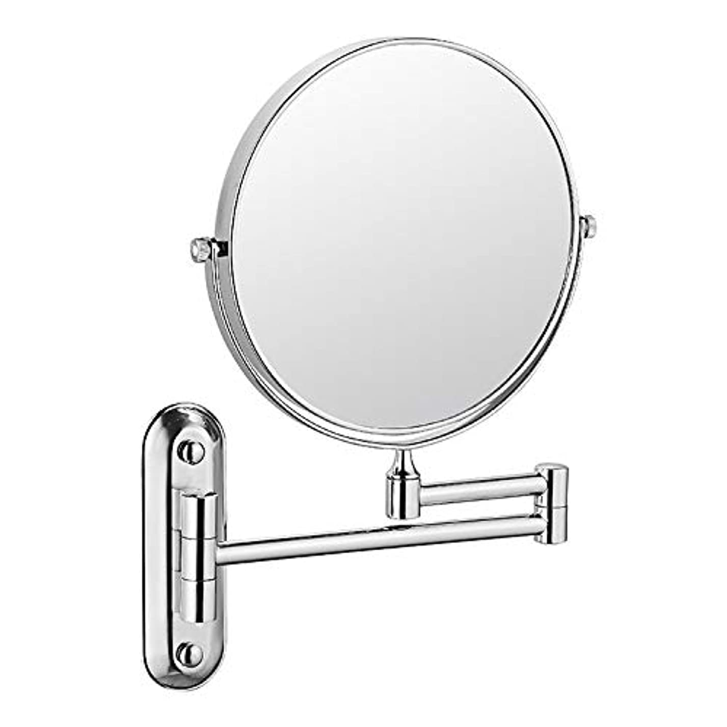疑問に思う生じる不規則な化粧鏡、壁に取り付けられた化粧鏡、3倍の倍率の化粧鏡、寝室または浴室の拡張可能な浴室シェービングミラー,A