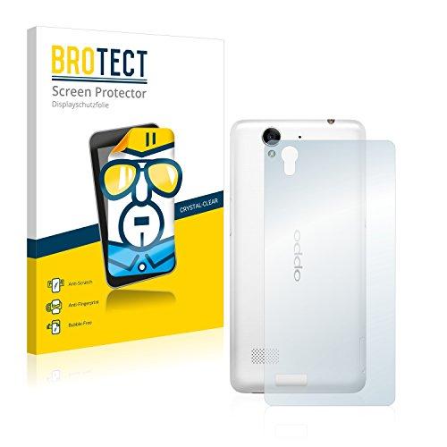 BROTECT Schutzfolie kompatibel mit Oppo Mirror 5s (Rückseite) (2 Stück) klare Bildschirmschutz-Folie