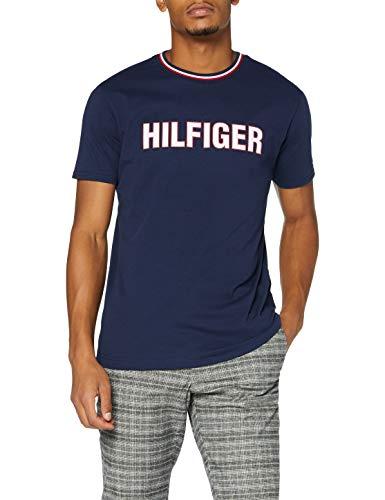 Tommy Hilfiger Cn SS tee Camisa, Cielo del Desierto, SM para Hombre