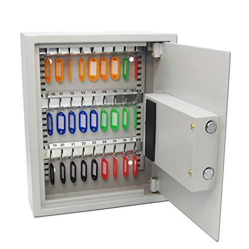 Armoires à clés Boîte à clés de Mot de Passe électronique Armoire de Gestion des clés en Fer Boîte à clés pour Serrure de sécurité Murale Porte-clés avec Porte-clés
