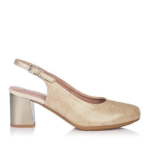 PITILLOS 5550 Zapato Talon Abierto Alto Mujer