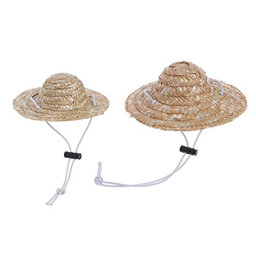 Dog Accessories - Hawaiian Style Pet Sombrero Hat Dog Cat Small Large diameter 14 cm 16 cm - Head Bill Style Woman Foam Room Smaller Brim Tape Small Heat S