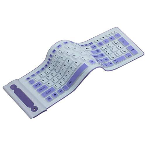 SHTST Drahtlose Tastatur Klapp USB2.4G Bequeme Silikontastatur 107-key Desktop-Computer Notebook-Tastatur (Color : Green)