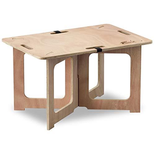 FIELDOOR パネル式 木製アウトドアテーブル レジャーテーブル 簡単組み立て キャンプ ロックベルト付 組み...