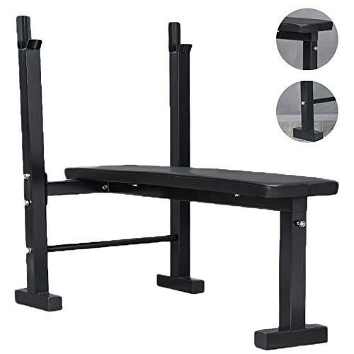 Barres de traction Support de squat Bench Press Support d'haltères de fitness pour hommes Étagère multifonctionnelle Support réglable Gymnase d'intérieur à domicile Lit d'haltérophilie simple Support