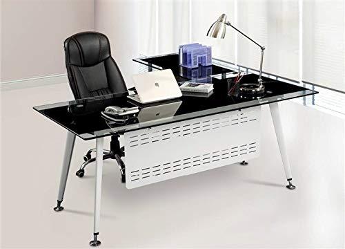 HABITMOBEL Mesa Oficina Escritorio, Mueble a Izquierda, Cristal, 180x85 cms