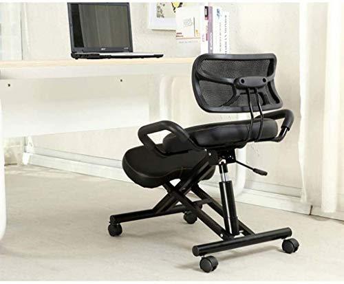 QSHG Kniend Stühle Ergonomischer Bürostuhl Verstellbarer Hocker, Förderung Gute Haltung, 5 Farben zur Auswahl Richtige Sitzhaltung Kleine Hocker (Color : Red)