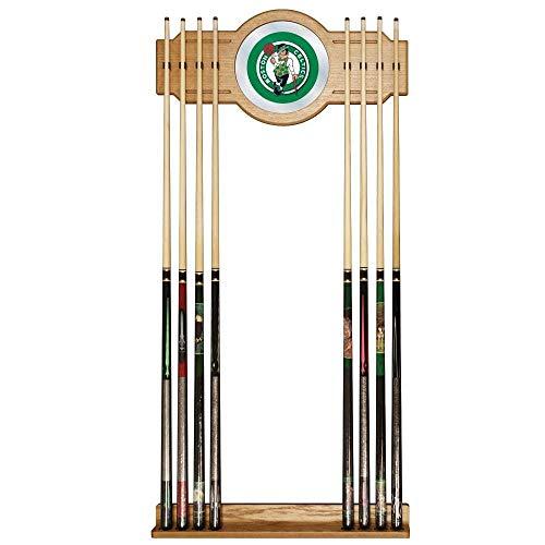 NBA Boston Celtics Billiard Cue Rack with Mirror