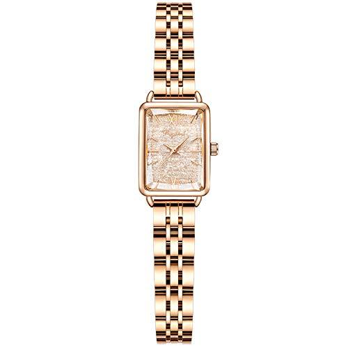 RORIOS Damen Uhren Analog Quarz Uhren Mode Mädchen Armbanduhr Quadrat Zifferblatt Minimalistisch Bracelets Women Watches