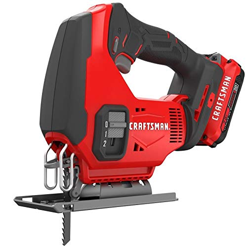 CRAFTSMAN V20 Cordless Jig Saw Kit (CMCS600D1)