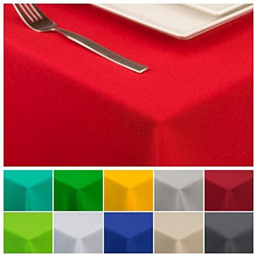 StoffTex Tischdecke Tischläufer Tischtuch Tischwäsche Tischdekoration Tafeltuch (Rot, 120 x 160 cm)