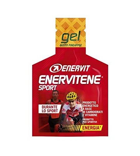 Enervit Enervitene Sport Gusto Ananas con Caffeina Confezione da 24 Gel da 25ml