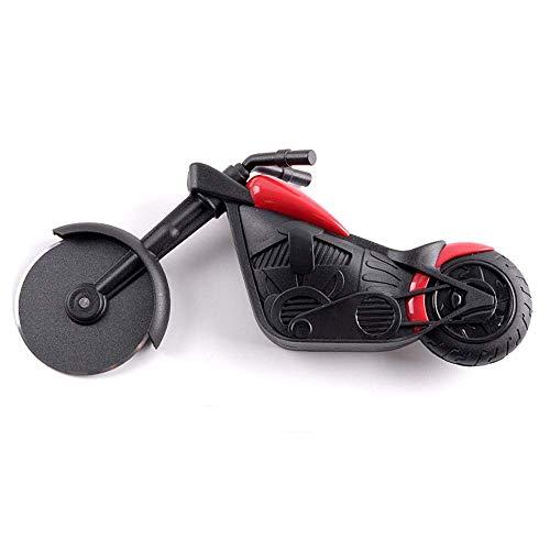 Motorrad-Pizzaschneider, Edelstahl-Radklinge, Küchenhelfer Geschenk mit Ständer