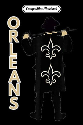Composition Notebook: New Orleans Pirate Football Team Active Wear Designer Journal Notebook Blank Lined Ruled 6x9 100 Pages