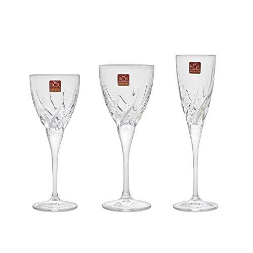 RCR Cristalleria Italiana Set 18 Calici, Vetro, Trasparente, 22 x 6 x 6 cm