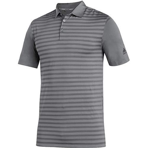 adidas Ultimate Stripe Polo - Men's Golf M Grey