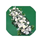 Almighty-Shop Wedding 100cm Flower Row Arch Arrangement Flower Stage Road Lead Flower Wedding Scene...