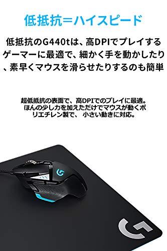 LogicoolGロジクールGゲーミングマウスパッドG440tハード表面標準サイズマウスパッド国内正規品