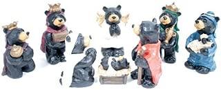 Black Bear Nativity Set 8 Pc Figurine Set Large 5