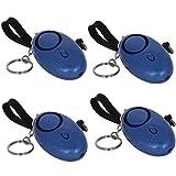 Othmro Personal Alarm 120db Personal Safesound alarma de seguridad llavero con luz LED BJY-L002 azul 4pcs