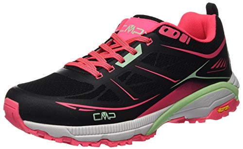 CMP – F.lli Campagnolo Damen Hapsu Wmn Nordic Walking Shoe Cross-Trainer, Schwarz (Nero-Gloss 84UE), 40 EU